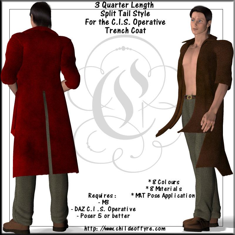 Half-Sleeve 3 Quarter Coat For CIS Trench Coat