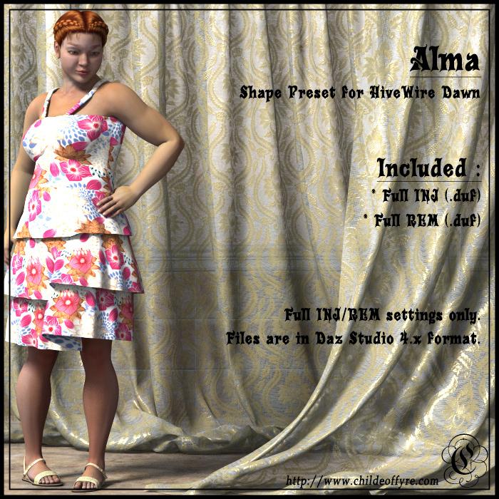 Alma for Dawn Daz Studio Version