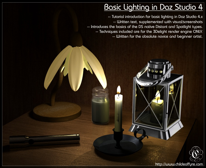 Tutorial : Basic Lighting in Daz Studio