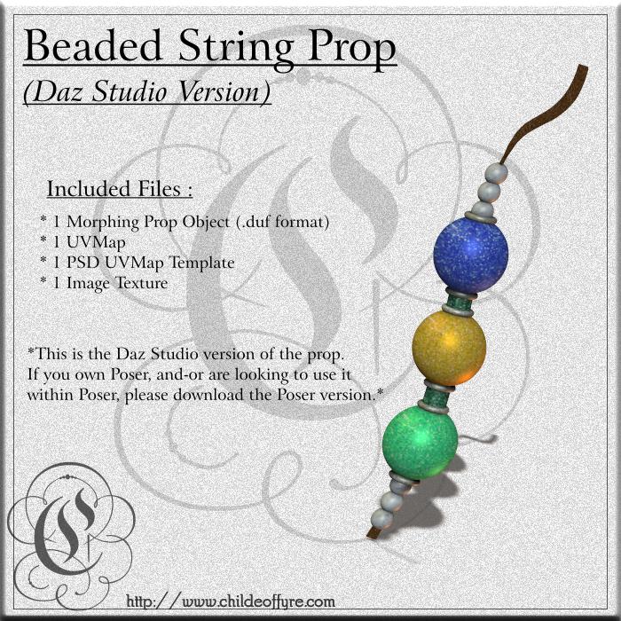 COF Beaded String for Daz Studio