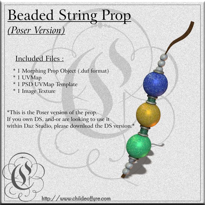 COF Beaded String for Poser