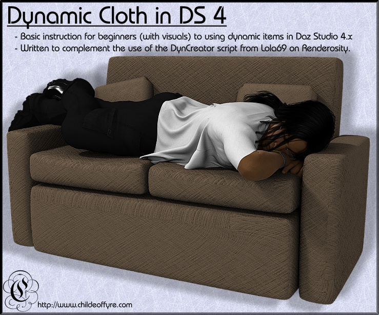 Tutorial : Dynamic Cloth in Daz Studio