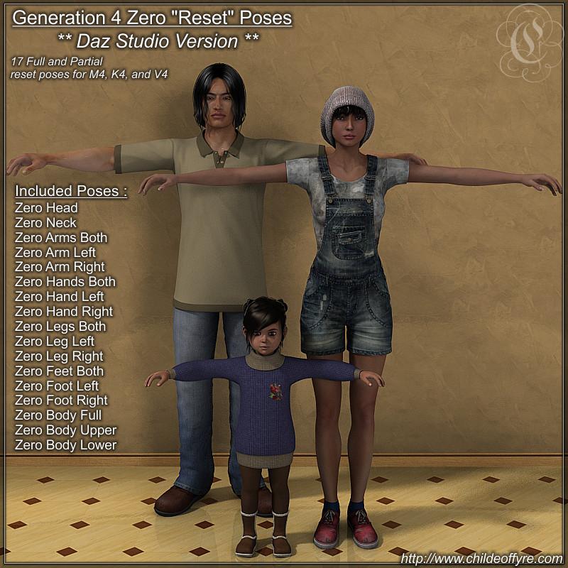 COF Zero Poses for the Gen4 figures (DS Version)