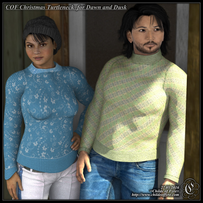 COF Christmas Sweater for Hivewire's Dusk and Dawn