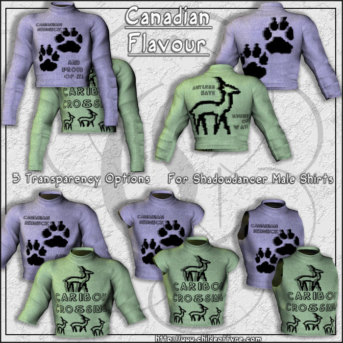Canadian Flavour For Shadowdancer Male Shirt