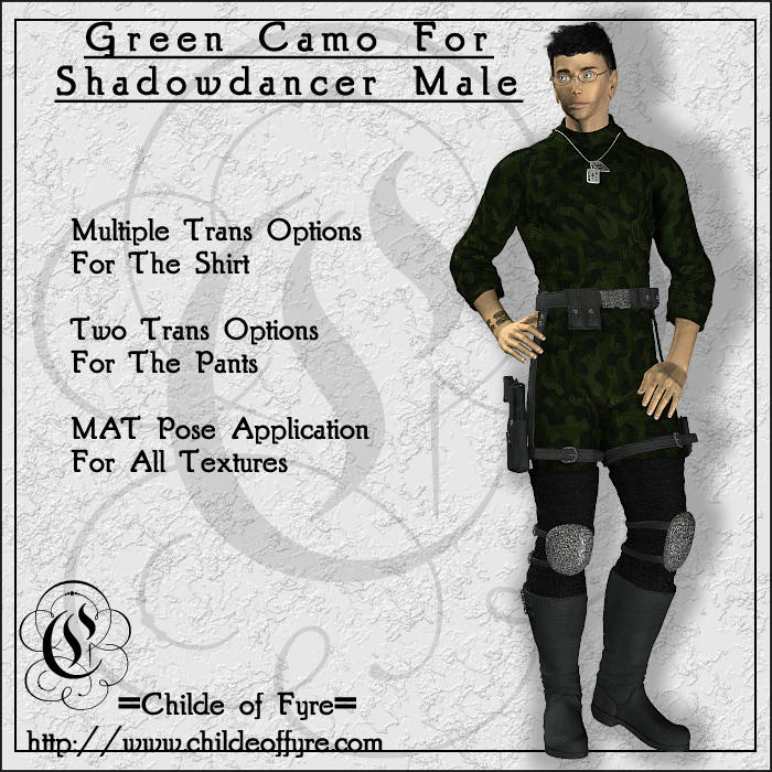 Green Camo For Shadowdancer Male