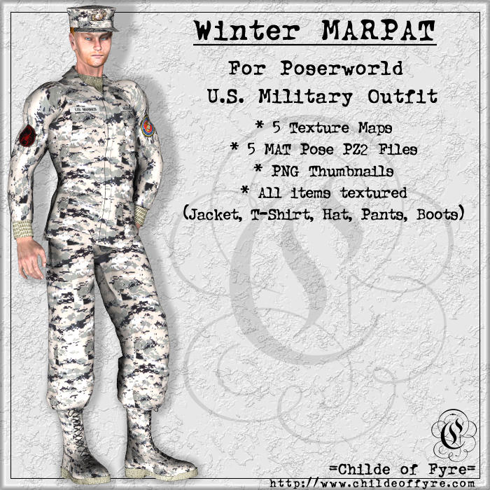 Winter MARPAT Camo for Poserworld U.S. Military