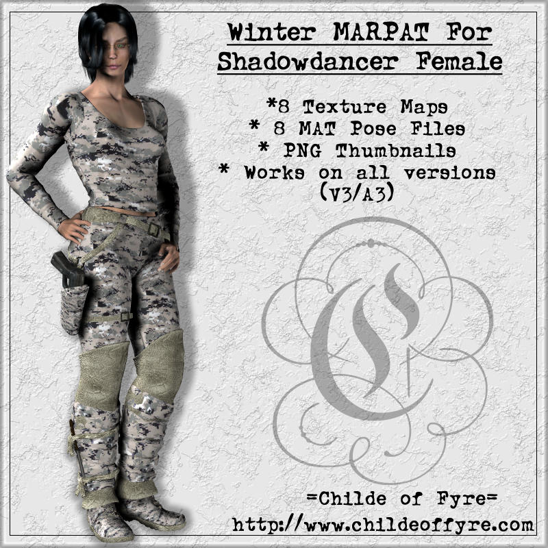 Winter MARPAT Camo for Daz Shadowdancer Female