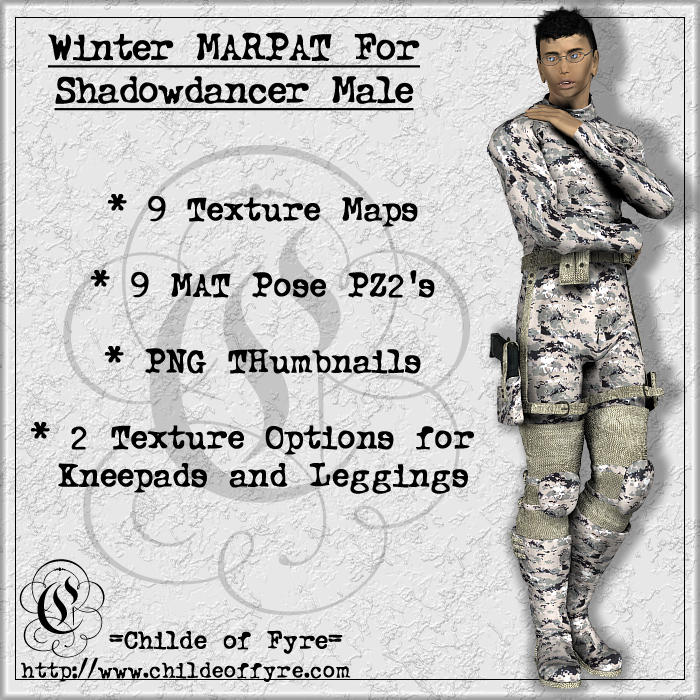 Winter MARPAT Camo for Daz Shadowdancer Male