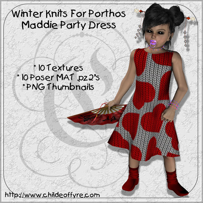 Winter Knits for Maddie's Party Dress