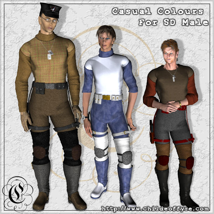 Casual Colours For Shadowdancer Male
