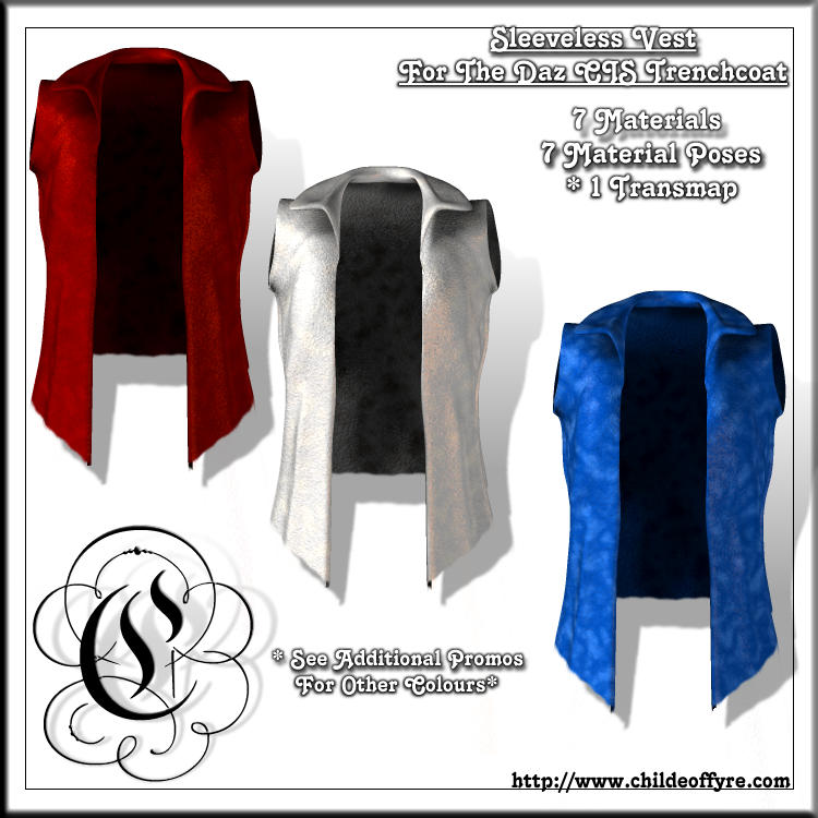 Sleeveless Vest For CIS Trench Coat