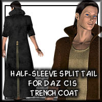 Half Sleeve Coat For CIS Trench Coat