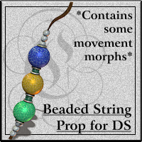COF Beaded String for Daz Studio