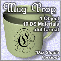 COF Coffee Mug Prop for Daz Studio