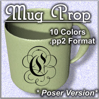 COF Coffee Mug Prop for Poser
