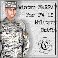Winter MARPAT For Poserworld U.S. Military